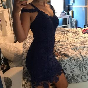 Royal Blue Lace Homecoming/Cocktail Dress!